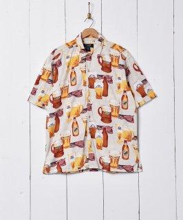 古着ビール柄 半袖シャツ 古着のネット通販 古着屋グレープフルーツムーン