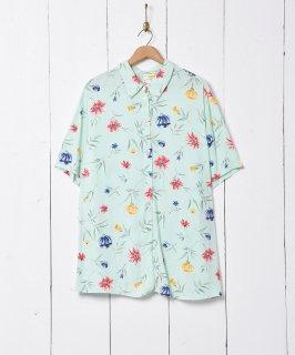 古着花柄 半袖シャツ 古着のネット通販 古着屋グレープフルーツムーン