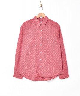 古着「Backers」コモン柄 長袖シャツ 古着のネット通販 古着屋グレープフルーツムーン