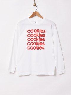 古着ロングスリーブ プリントTシャツ【cookies】 古着のネット通販 古着屋グレープフルーツムーン