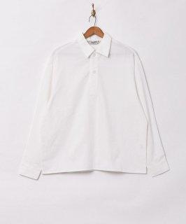 古着【3色展開】「Backers」プルオーバー コットンリネン 長袖シャツ ホワイト 古着のネット通販 古着屋グレープフルーツムーン