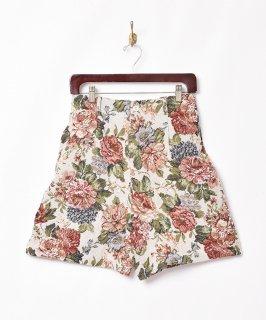 古着【2色展開】花柄 ゴブラン織りショートパンツ ベージュ 古着のネット通販 古着屋グレープフルーツムーン