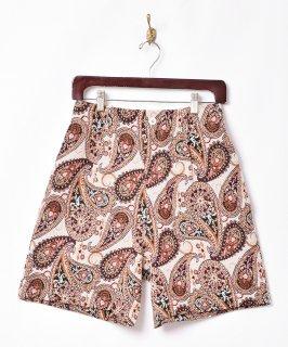 古着【2色展開】総柄 ゴブラン織りショートパンツ ベージュ 古着のネット通販 古着屋グレープフルーツムーン