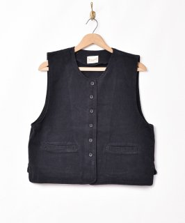 古着【3色展開】「Elcamino」コットンベスト ブラック 古着のネット通販 古着屋グレープフルーツムーン
