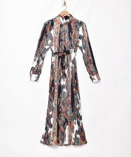 古着「Meridian」ペイズリーパターン プリーツ ワンピース 古着のネット通販 古着屋グレープフルーツムーン