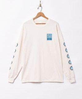 古着【3色展開】「Backers」メッセージプリント 長袖Tシャツ アイボリー 古着のネット通販 古着屋グレープフルーツムーン
