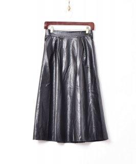 古着【2色展開】「Meridian」フェイクレザー ロングスカート ブラック 古着のネット通販 古着屋グレープフルーツムーン