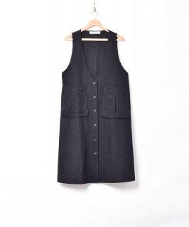 古着【2色展開】「Elcamino」ビッグポケット ノースリーブワンピース ブラック 古着のネット通販 古着屋グレープフルーツムーン