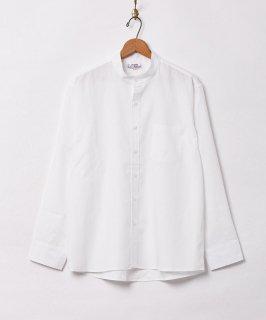 古着【3色展開】「Backers」ピーチスキン スタンドカラー 長袖シャツ ホワイト 古着のネット通販 古着屋グレープフルーツムーン