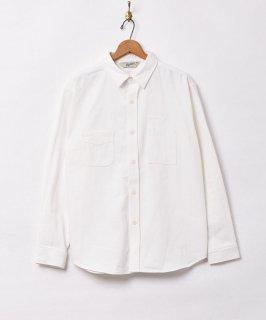 古着【2色展開】「Backers」ヘリンボーン ワークシャツ ホワイト 古着のネット通販 古着屋グレープフルーツムーン