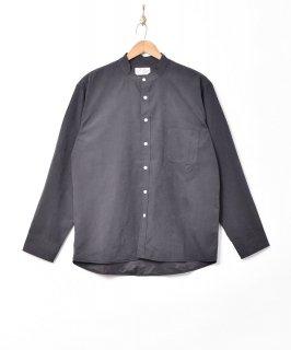 古着【3色展開】「Backers」ピーチスキン スタンドカラー 長袖シャツ ブラック 古着のネット通販 古着屋グレープフルーツムーン