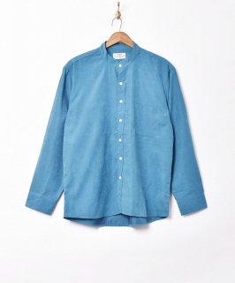 古着【3色展開】「Backers」ピーチスキン スタンドカラー 長袖シャツ ブルー 古着のネット通販 古着屋グレープフルーツムーン