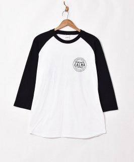 古着【2色展開】ラグランスリーブプリントTシャツ 【CALMA】ブラック 古着のネット通販 古着屋グレープフルーツムーン