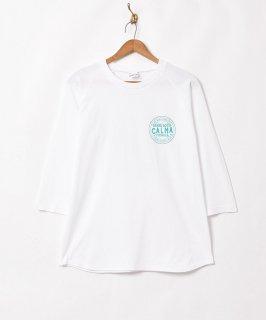 古着【2色展開】プリントロングスリーブTシャツ【CALMA】ホワイト 古着のネット通販 古着屋グレープフルーツムーン