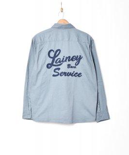 古着【3色展開】「Backers」刺繍 長袖 ワークシャツ サックスブルー 古着のネット通販 古着屋グレープフルーツムーン