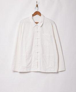 古着【2色展開】チャイナデザイン ジャケット ホワイト 古着のネット通販 古着屋グレープフルーツムーン