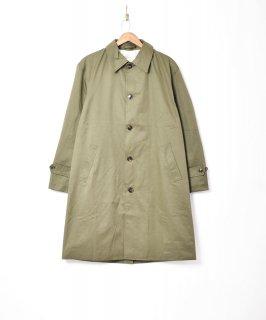 古着【3色展開】「Backers」ステンカラー ロングコート オリーブ 古着のネット通販 古着屋グレープフルーツムーン