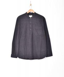 古着【2色展開】「TEMPTATION」プルオーバー ノーカラーカラーシャツ ブラック 古着のネット通販 古着屋グレープフルーツムーン