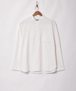 古着【2色展開】「TEMPTATION」プルオーバー ノーカラーカラーシャツ ホワイト 古着のネット通販 古着屋グレープフルーツムーン