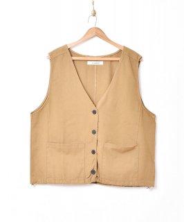 古着【2色展開】「Elcamino」オーバーコットンベスト ベージュ 古着のネット通販 古着屋グレープフルーツムーン