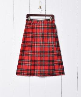 古着チェック柄 プリーツスカート 古着のネット通販 古着屋グレープフルーツムーン