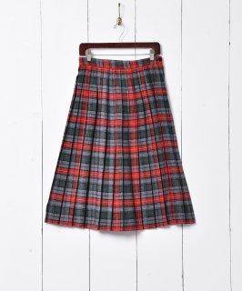 古着アメリカ製 チェック柄 プリーツスカート 古着のネット通販 古着屋グレープフルーツムーン