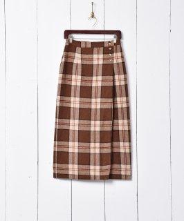 古着チェック柄 タイト ウールスカート 古着のネット通販 古着屋グレープフルーツムーン