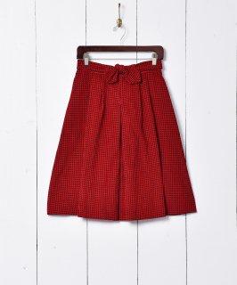 古着千鳥格子柄 コーデュロイスカート 古着のネット通販 古着屋グレープフルーツムーン