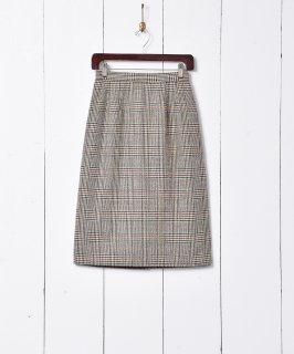 古着グレンチェック柄 台形スカート 古着のネット通販 古着屋グレープフルーツムーン