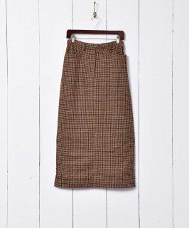 古着千鳥格子柄 マキシ丈 タイトスカート 古着のネット通販 古着屋グレープフルーツムーン