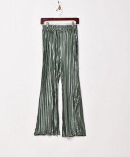 古着【4色展開】「Meridian」プリーツフレアイージーパンツ グリーン 古着のネット通販 古着屋グレープフルーツムーン