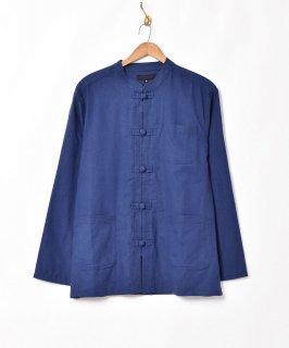古着「Temptation」【5色展開】リネン混 チャイナシャツ ネイビー 古着のネット通販 古着屋グレープフルーツムーン