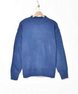 古着【5色展開】「Backers」ガンジーセーター ブルー 古着のネット通販 古着屋グレープフルーツムーン