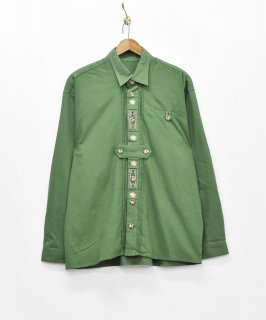 古着【3色展開】長袖 チロリアン刺繍シャツ グリーン 古着のネット通販 古着屋グレープフルーツムーン