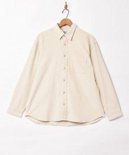 古着【7色展開】「TEMPTATION」細畝 ビッグシルエット コーデュロイシャツ ホワイト 古着のネット通販 古着屋グレープフルーツムーン