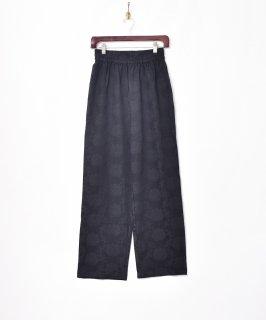 古着【3色展開】「Meridian」織り花柄 イージーパンツ ブラック 古着のネット通販 古着屋グレープフルーツムーン
