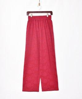 古着【3色展開】「Meridian」織り花柄 イージーパンツ ワインレッド 古着のネット通販 古着屋グレープフルーツムーン