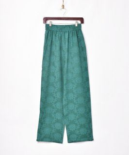 古着【3色展開】「Meridian」織り花柄 イージーパンツ グリーン 古着のネット通販 古着屋グレープフルーツムーン