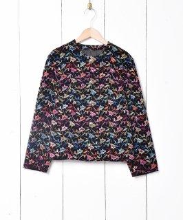 古着刺繍 ノーカラー ベロアジャケット 古着のネット通販 古着屋グレープフルーツムーン