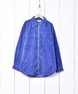 古着ジップアップ 長袖 コーデュロイジャケット パープル 古着のネット通販 古着屋グレープフルーツムーン