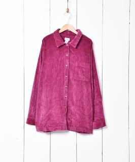 古着L.L.Bean 長袖 コーデュロイシャツ パープル 古着のネット通販 古着屋グレープフルーツムーン