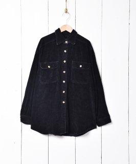古着長袖 コーデュロイシャツ ブラック 古着のネット通販 古着屋グレープフルーツムーン