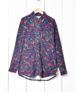 古着花柄 長袖 コーデュロイシャツ 古着のネット通販 古着屋グレープフルーツムーン