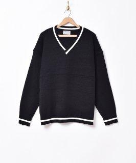 古着【4色展開】「TEMPTATION」ラインセーター ブラック 古着のネット通販 古着屋グレープフルーツムーン