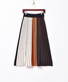 古着【2色展開】「Meridian」3色ストライプスカート オレンジ 古着のネット通販 古着屋グレープフルーツムーン