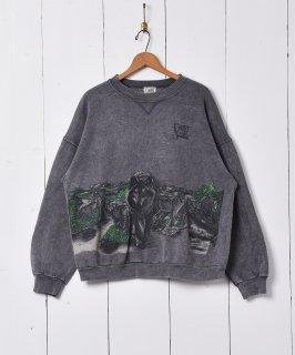 古着アメリカ製 オオカミプリント スウェットシャツ 古着のネット通販 古着屋グレープフルーツムーン