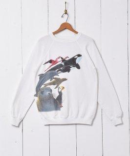 古着アメリカ製 アニマルプリント スウェットシャツ 古着のネット通販 古着屋グレープフルーツムーン
