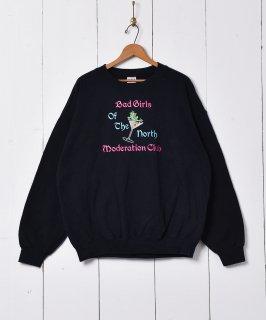 古着カエル刺繍 スウェットシャツ 古着のネット通販 古着屋グレープフルーツムーン