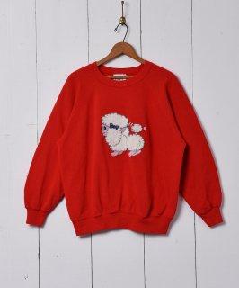 古着ドッグ刺繍 スウェットシャツ 古着のネット通販 古着屋グレープフルーツムーン