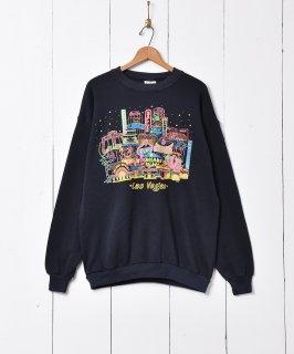 古着ラスベガスプリント スウェットシャツ 古着のネット通販 古着屋グレープフルーツムーン